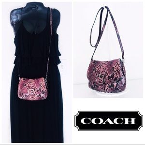 Coach Soho Python Embossed Leather Crossbody Bag